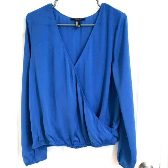 BOGO FREE Cobalt blue long sleeve blouse